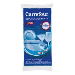 Esponja Multiuso Não Risca Carrefour 3 Unidades