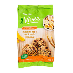 Cookie Integral De Banana Carrefour Viver 150 g