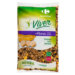 Granola Light Com Banana Carrefour Viver 1Kg