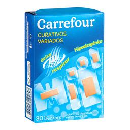 Curativos Adesivos Carrefour Com 30 Unidades