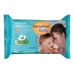Toalha Umedecida Carrefour Baby 60 Unidades