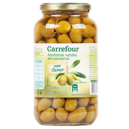 Azeitona Verde Com Caroço Carrefour 500 g
