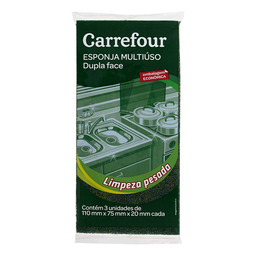 Esponja Multiuso Carrefour 3 Und