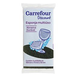 Esponja Multiuso Carrefour Discount 3 Und