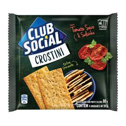 Biscoito De Tomate Seco E Salsinha Club Social Crostini 80 g