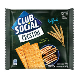 Biscoito Original Club Social Crostini 80 g