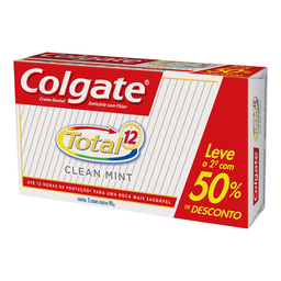 Kit Creme Dental Colgate Total 12 Clean Mint 2 Un. c/ 90 g Cada