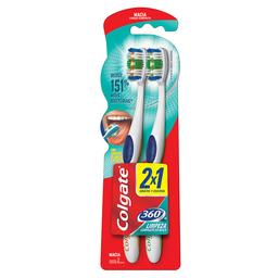 Escova Dental Colgate 360° Laranja E Verde Com 2 Unidades