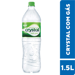 Água Mineral Com Gás Crystal 1,5 Litros