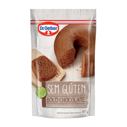 Mistura Para Bolo Sem Glúten Sabor Chocolate Dr. Oetker 300 g