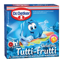 Gelatina Sabor Tutti-Frutti Dr. Oetker 20 g