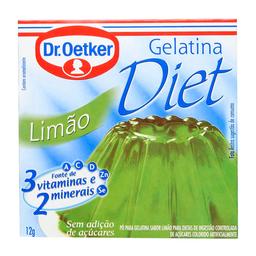 Gelatina Diet Sabor Limão Dr. Oetker 12G