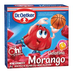 Gelatina Sabor Morango Dr. Oetker 20 g