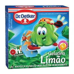 Gelatina Sabor Limão Dr. Oetker 20 g