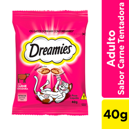 Petisco Dreamies Carne Para Gatos Adultos 40 g