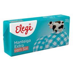 Manteiga Sem Sal Extra Elegê Tablete 200 g