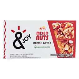 Barra Nuts Nozes E Canela Agtal Com 2 Unidades