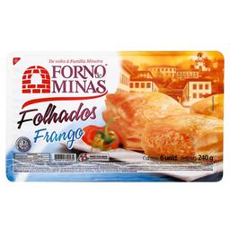 Folhado De Frango Forno De Minas 6 Unidades 240 g