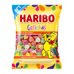 Bala De Gelatina Gotinhas Haribo 100 g