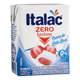 Creme De Leite Fresco Sem Lactose Italac 200 g