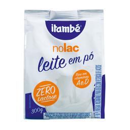Leite Integral Em Pó Sem Lactose Instantâneo Itambé Nolac 300 g