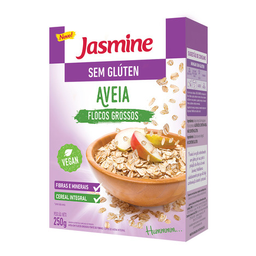 Aveia Integral Em Flocos Jasmine Sem Glúten 250 g