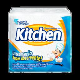 Guardanapo Folha Simples Kitchen Com 50 Unids De 22,7 X 22,8 Cm