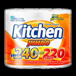 Papel Toalha Kitchen Jumbo Leve 240 Pague 220 Folhas
