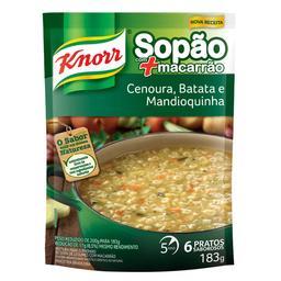 Sopa De Cenoura, Batata E Mandioquinha Com Macarrão Knorr 183G