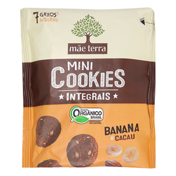 Cookie Orgânico Banana E Cacau Mãe Terra 120 g