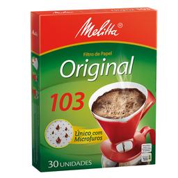 Filtro Descartável De Café 103 Melitta Com 30 Unidades