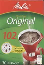 Filtro Descartável De Café 102 Melitta Com 30 Und