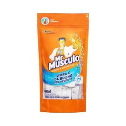 Limpa Vidros E Superfícies Mr. Músculo Refil 400 mL