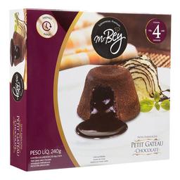 Petit Gateau Congelado Sabor Chocolate Mr Bey Premium 4 Unidades