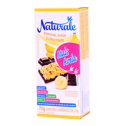 Barra De Cereal Sabor Banana Com Chocolate Naturale 3 Unidades