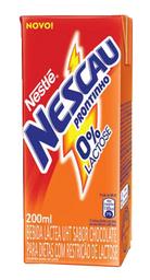 Bebida Láctea Sem Lactose Nestlé Nescau Chocolate 200 mL
