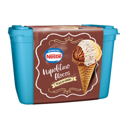Sorvete Napolitano Flocos Nestlé 1,5 Litros