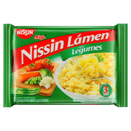 Macarrão Instantâneo Nissin Sabor Legumes 80 g