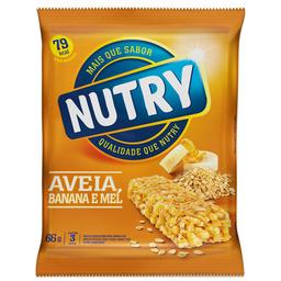 Barra De Cereal Sabor Aveia, Banana E Mel Nutry 3 Unidades