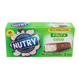 Barra De Fruta Sabor Coco Nutry 3 Unidades