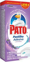 Desodorizador Sanitário Em Pastilha Pato Lavanda 4 Und