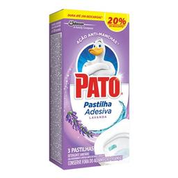 Desodorizador Sanitário Em Pastilha Pato Lavanda 3 Und