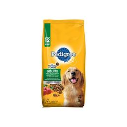 Ração Pedigree Carne/Vegetais Cães  Raças Médias e Grandes 3 kg