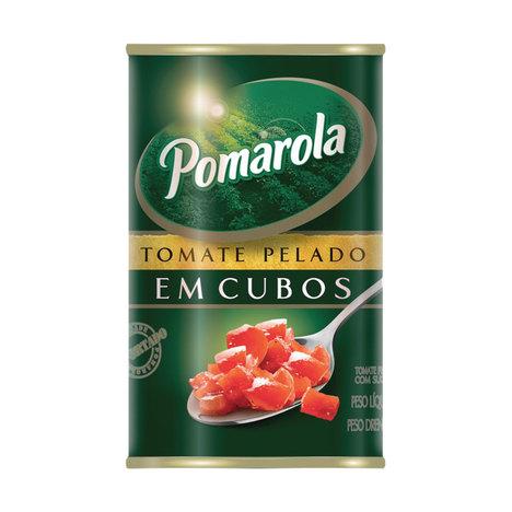 Pomarola Tomate Pelado Em Cubos Lata