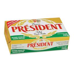 Manteiga Com Sal Président Tablete 200 g