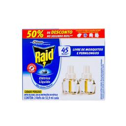 Inseticida Elétrico Para Mosquitos E Pernilongos Raid 33 mL
