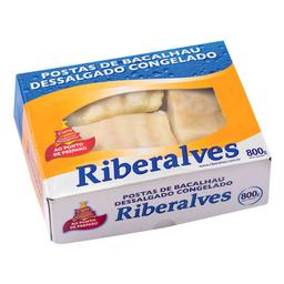 Posta De Bacalhau Com Espinha Congelado Riberalves 800 g