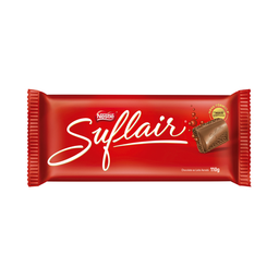 Barra De Chocolate Ao Leite Suflair 110 g