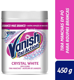 Tira Manchas Vanish White 450g sem cloro para roupas brancas
