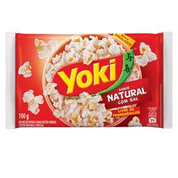 Milho Para Pipoca Natural Com Sal Yoki Popcorn 100 g